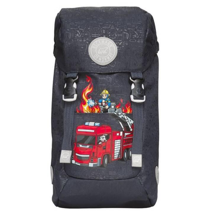 BECKMANN Sac à dos de jardin d'enfants Classic Fire Truck (12 l, Noir)