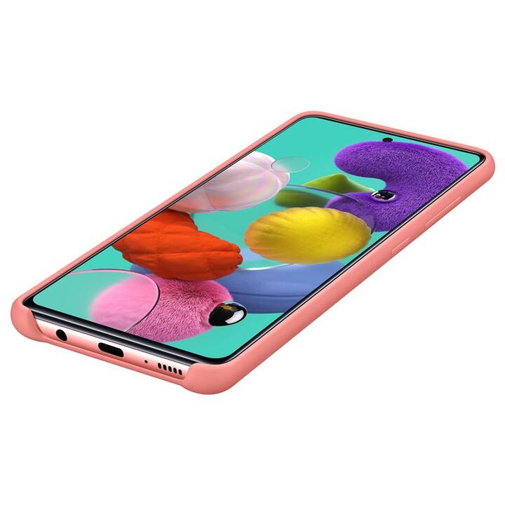 SAMSUNG Backcover Silicone Cover (Galaxy A51, Pink)