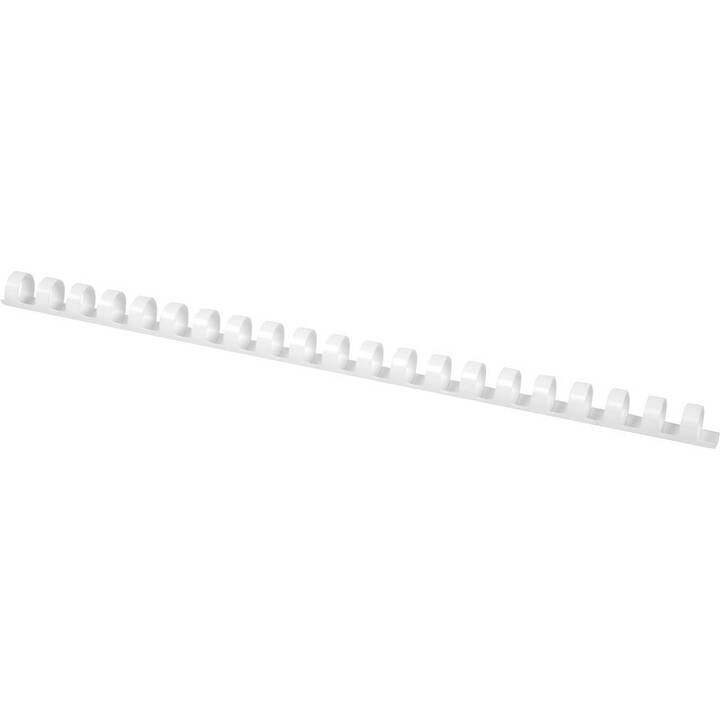 Q-CONNECT Anneaux de reliure plastique (1 cm, Blanc)