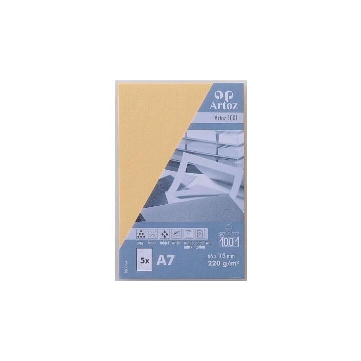 ARTOZ Visitenkarten 1001 A7 Honiggelb - 5 Stück