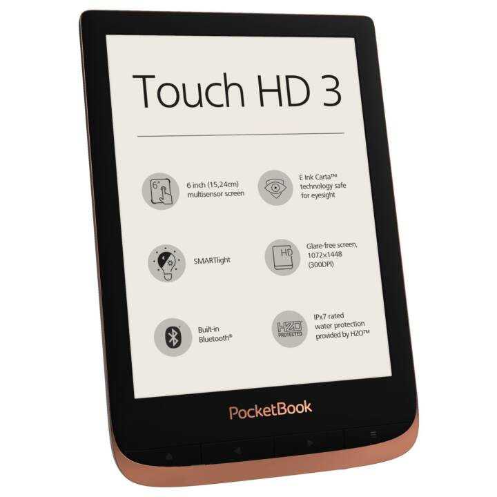 "POCKETBOOK Touch HD 3 (6"", Bluetooth, WLAN, 16 GB)"