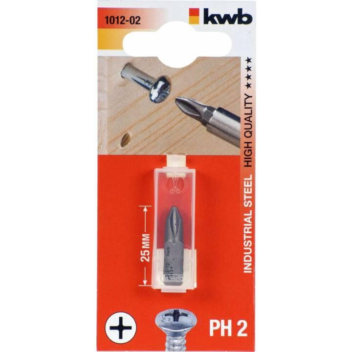 "KWB Schraubendreher-Bit 1/4"", Ph 2 25 mm"