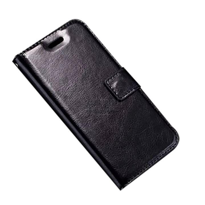 EG Portafoglio Flip Case per iPhone 8 Nero