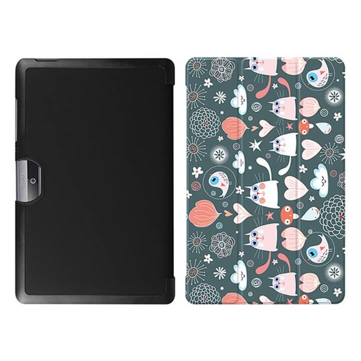 """EG MTT Tablet Tasche mit faltbarer Abdeckung für Acer Iconia Tab 10 10.1 """"- Cartoon Katzen"""