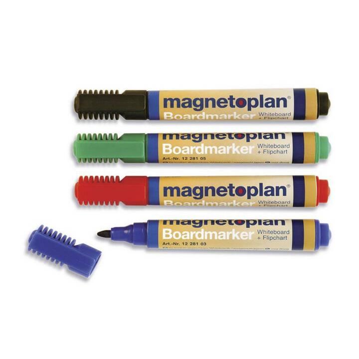 MAGNETOPLAN Indicatore di lavagna a fogli mobili (Blu, Rosso, Verde, Nero, 48 pezzo)