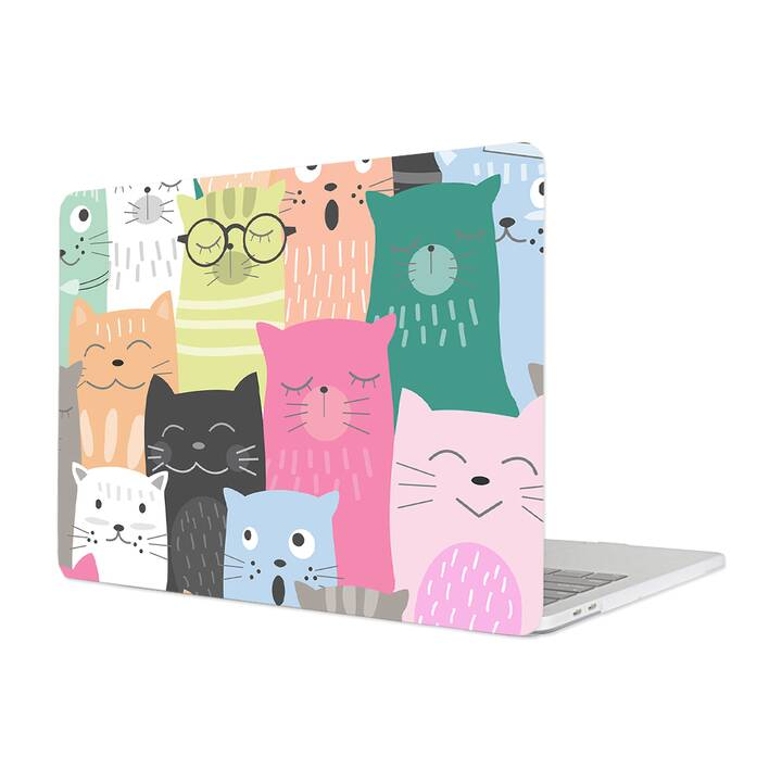 "EG MTT Cover für Macbook 12"" Retina (2015 - 2018) - Cartoon Katzen"
