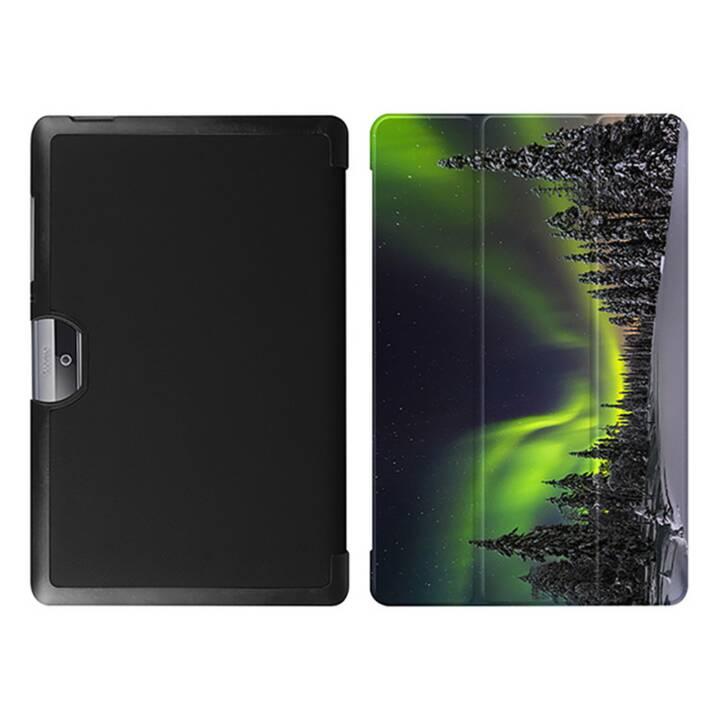 """EG MTT Tablet Tasche mit faltbarer Abdeckung für Acer Iconia Tab 10 10.1 """"- Aurora"""