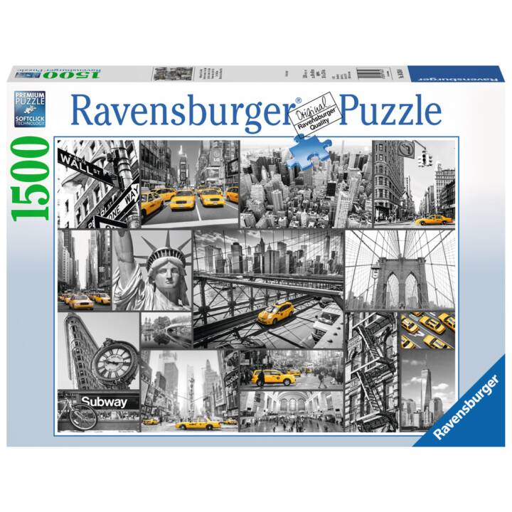RAVENSBURGER Spot of colour in New York Puzzle, 1500 pcs.
