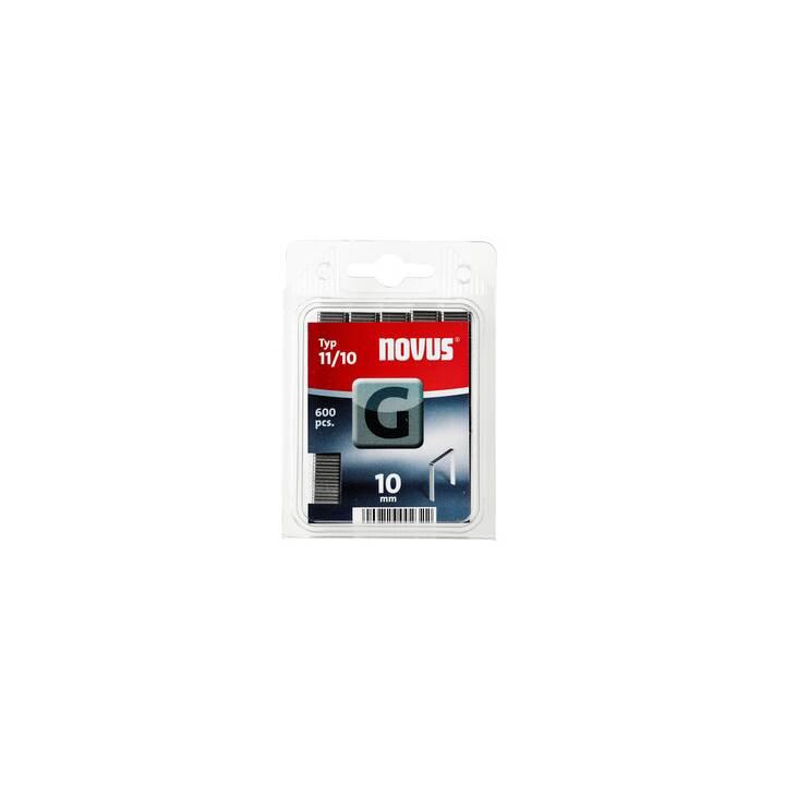 NOVUS STRAETER Graffette per graffatrici 11/10 (600 pièce)