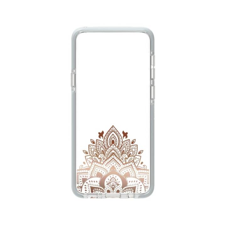 GEAR4 Backcover D3O Victoria Feathers (Galaxy S9 Plus, Transparent, Roségold)