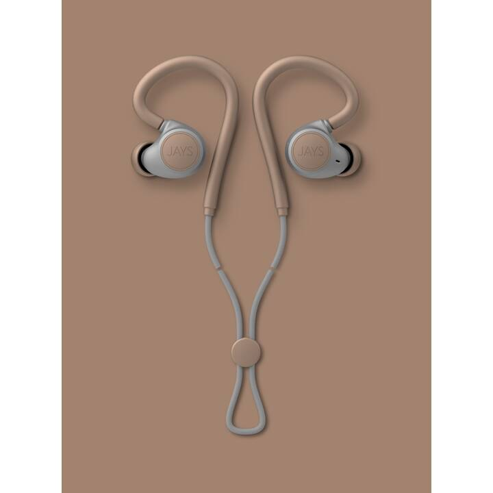 JAYS m-Six (In-Ear, Bluetooth 5.0, Sable)