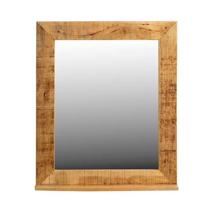 SIT-MÖBEL Vintage Natural Wood Wandspiegel (80 cm x 67 cm)