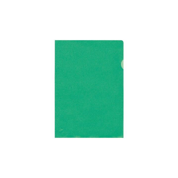 BÜROLINE Sichtmappen A4 grün matt 10 Stück