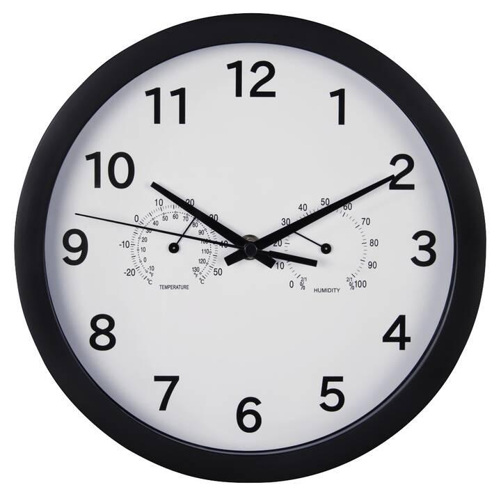HAMA Pure Plus Horloge murale analogique (Noir)
