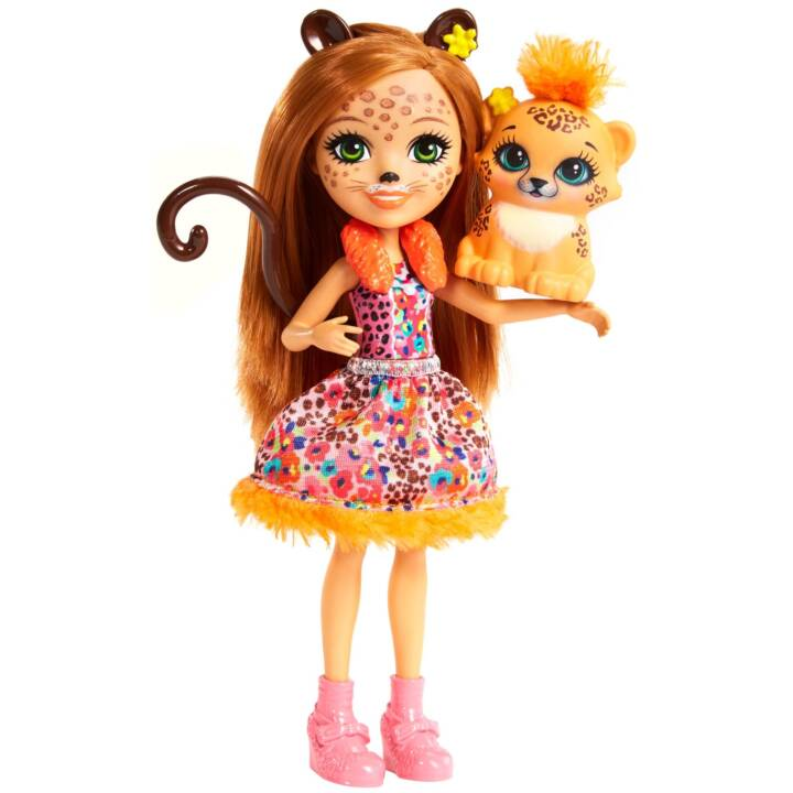 MATTEL Enchantimals Cherish Cheetah Cheetah Cheetah Ragazza Cheetah Cheetah
