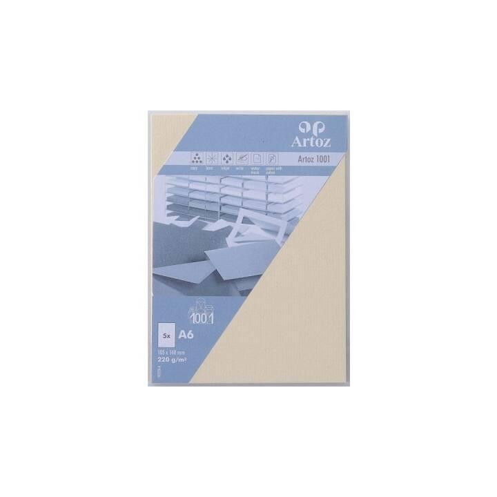 ARTOZ Biglietto in bianco 1001 (Universale, A6, Beige)