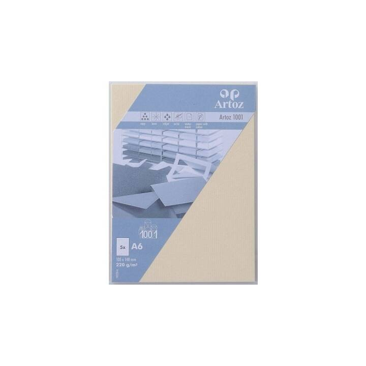 ARTOZ Cartes en blanc 1001 (Universel, A6, Beige)
