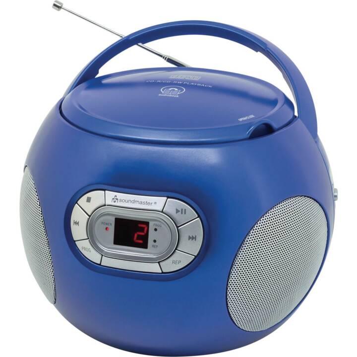SOUNDMASTER Portabler Radio/CD-Player Radios de chantier (Bleu)