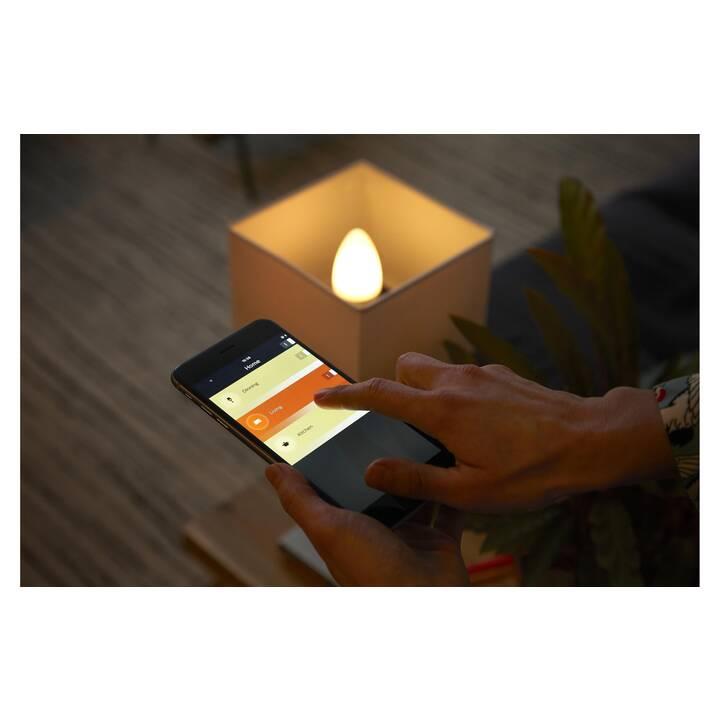 PHILIPS HUE Ampoule LED White Ambiance 2x (E14, 6 W)