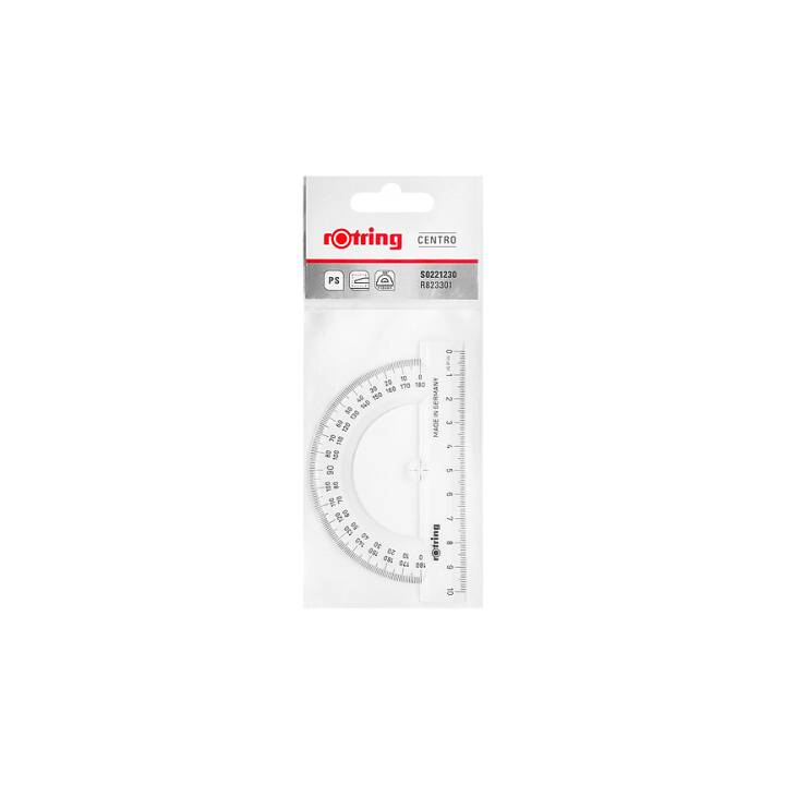 ROTRING Protrattore (10 cm, Transparente)