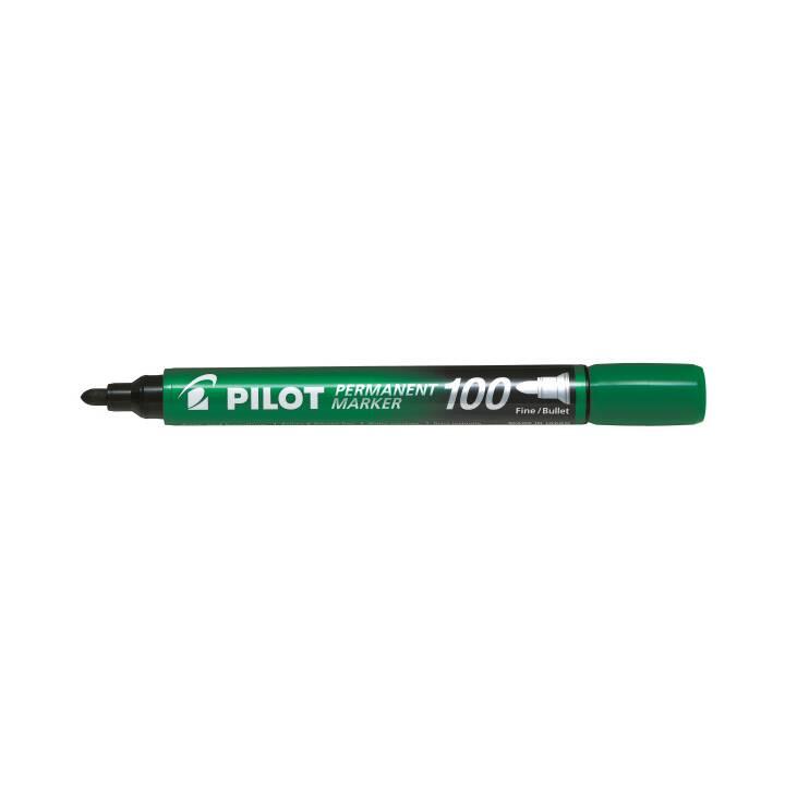 PILOT PEN Permanent Marker 100 1mm Rundspitze grün