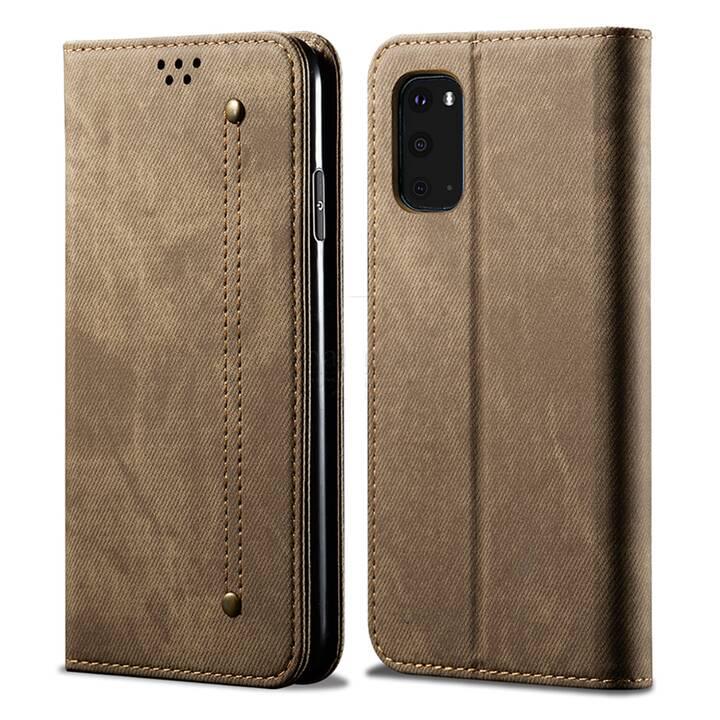"""EG Mornrise Étui portefeuille pour Xiaomi Mi Note 10 6.47"""" 2020 - Kaki"""