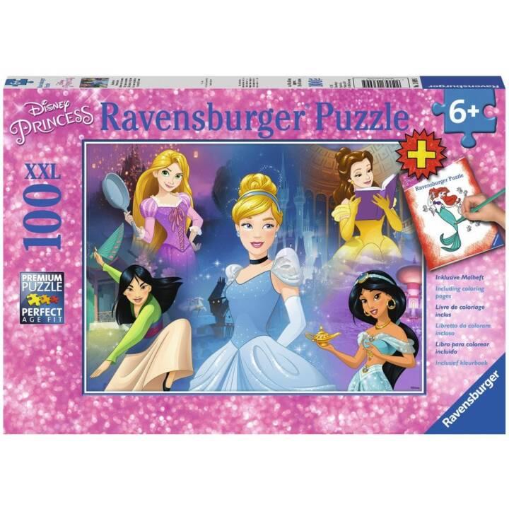 Puzzle RAVENSBURGER, Principessa Disney XXL, 100 pezzi + Libretto da colorare