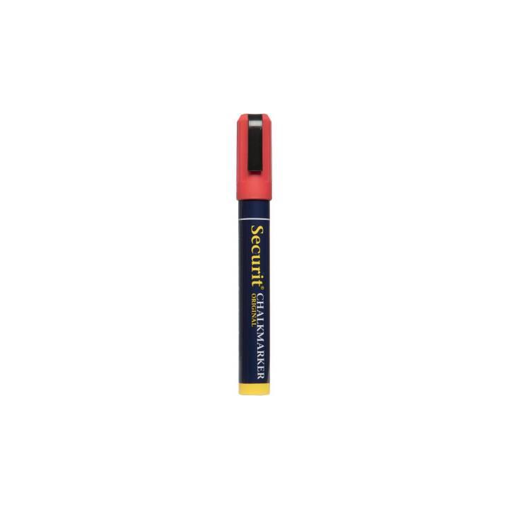 SECURIT Marcatore gesso 2-6mm (Rosso, 1 pezzo)