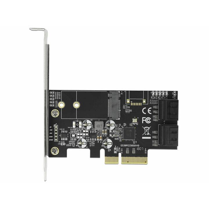 DELOCK Kontrollerkarte (PCI Express, 4 x SATA, 1 x M.2)
