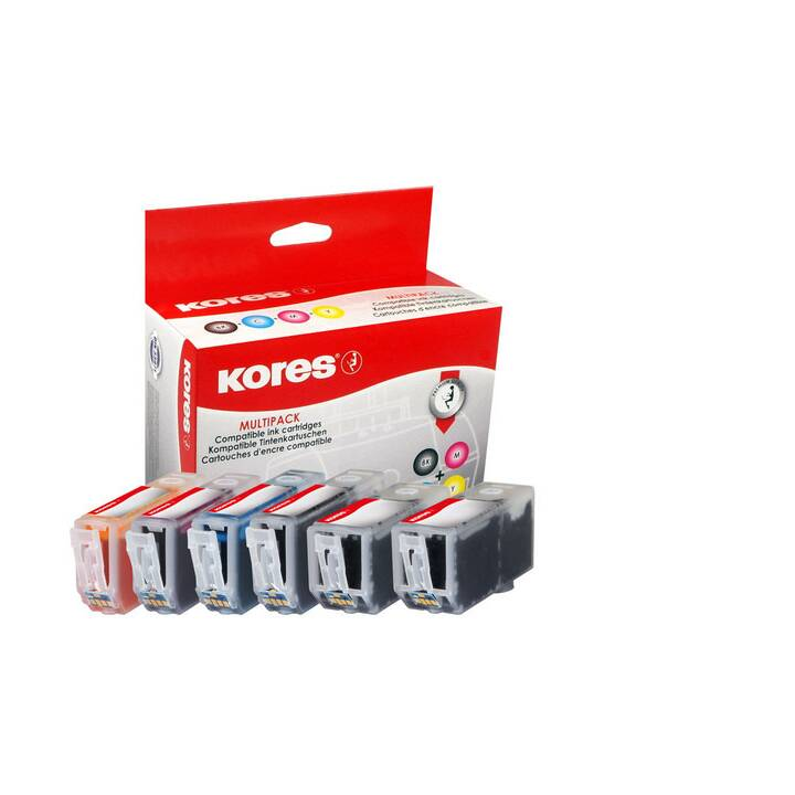 KORES Promopack Inchiostro 3 x BKCMY