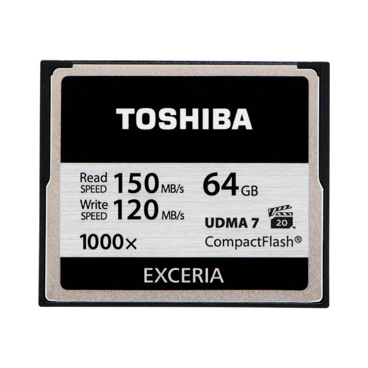 TOSHIBA Compact Flash Exceria (64 GB, 150 MB/s)