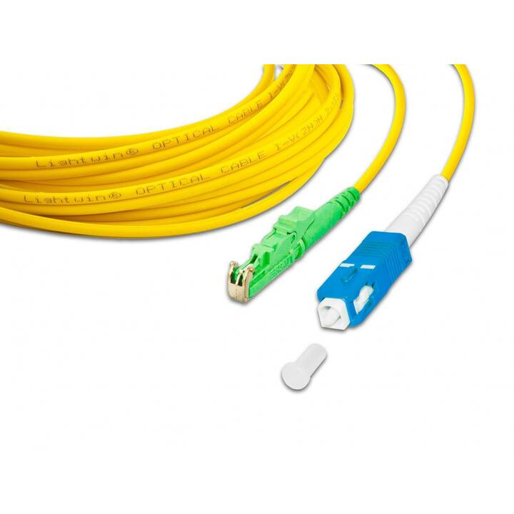 LIGHTWIN Netzwerkkabel (SC Single-Modus, E-2000 (APC), 0.5 m)