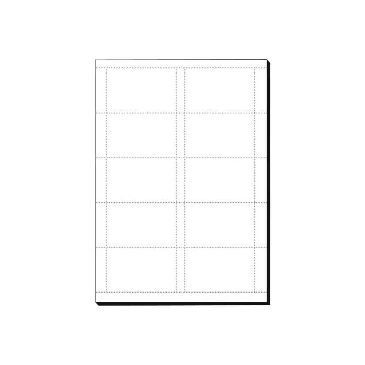 SIGEL Visitenkarten Weiss 85 x 55 mm - 600 Stück