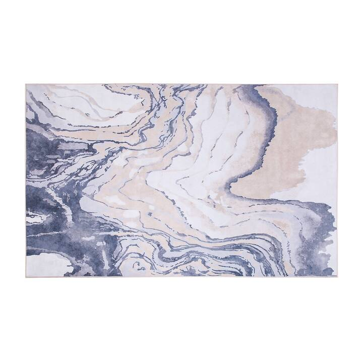 BELIANI Teppich Gebze (140 cm x 200 cm, Beige, Blau)