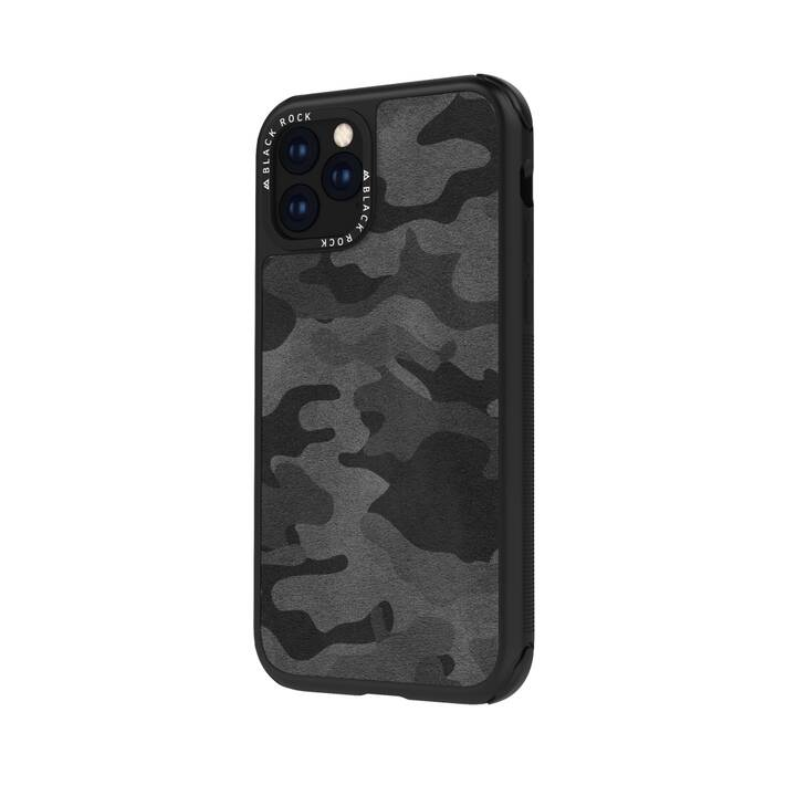 BLACK ROCK Backcover Robust Real Leather Camo (iPhone 11, Camuffamento)