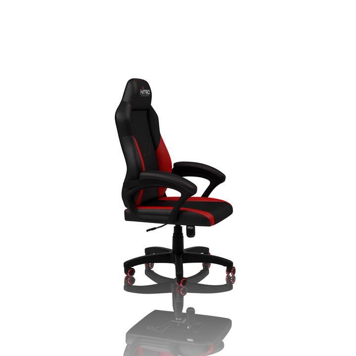NITRO CONCEPTS C100 Gaming Stuhl (Schwarz, Rot)