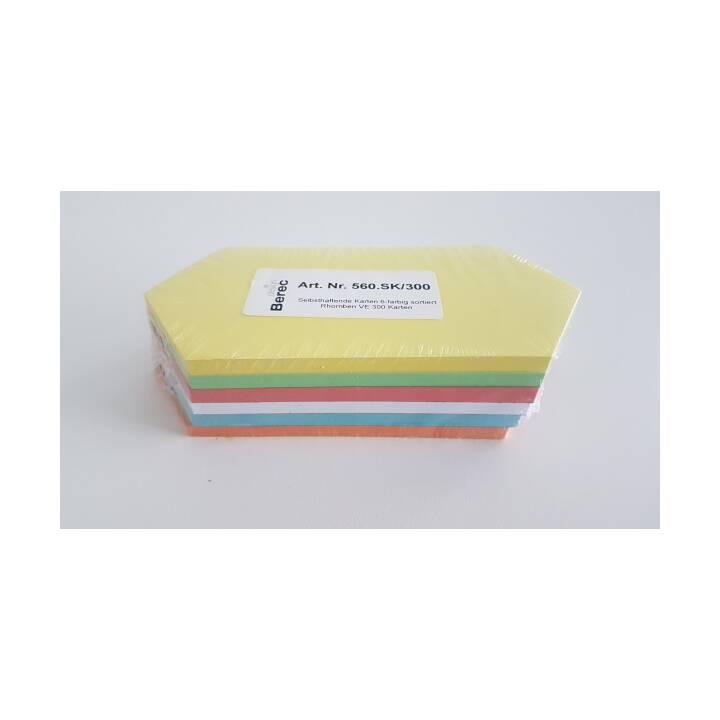 Cartes BEREC 6 couleurs losanges 200x95mm 300 pcs.