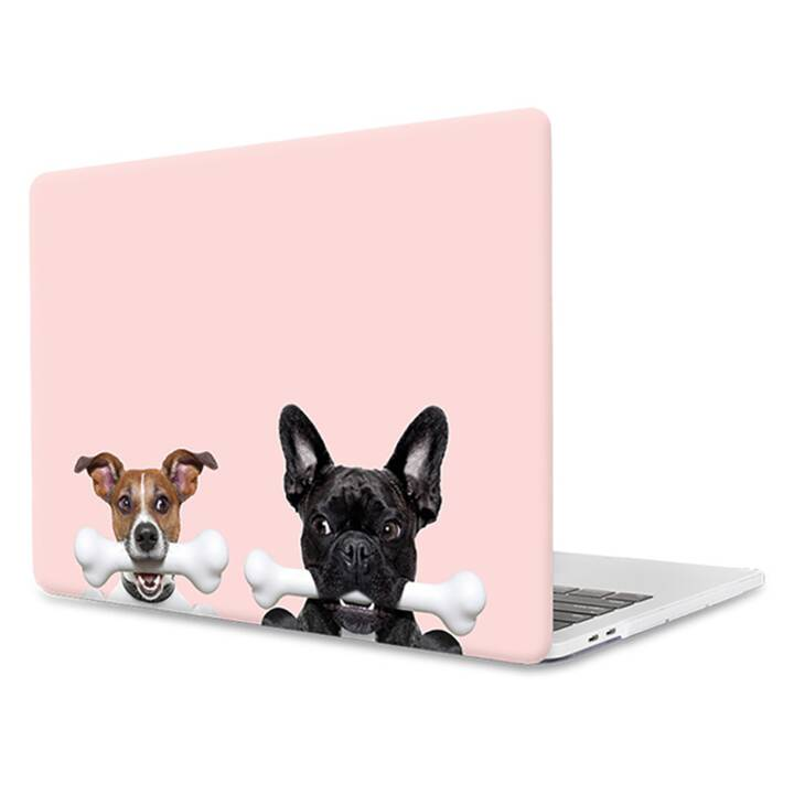 """EG MTT Housse pour ordinateur portable pour Macbook 12"""" Retina - Pink Funny Dogs"""