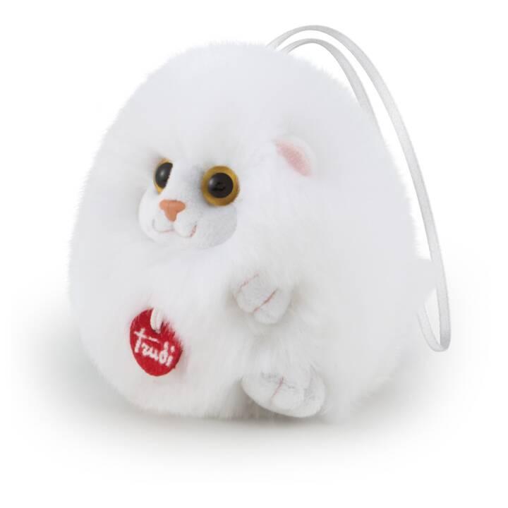 TRUDI Anhänger Katze (11 cm, Weiss)
