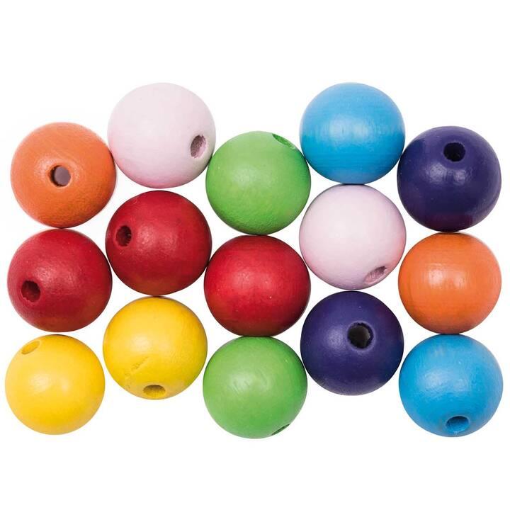 RICO DESIGN Mix Perlen (Holz, Mehrfarbig)