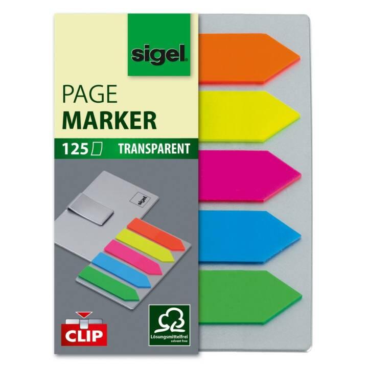 SIGEL Blocchetti memo (12 mm x 50 mm, Multicolore)
