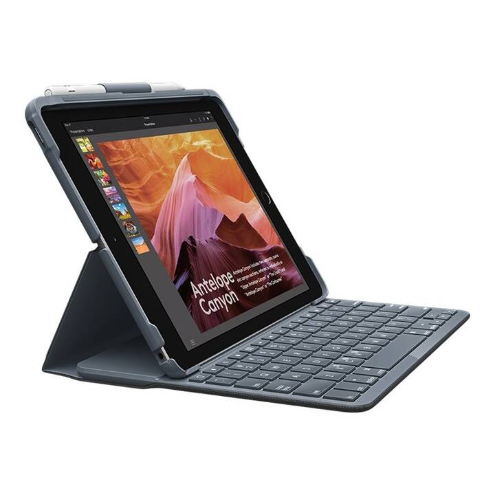 "LOGITECH Slim Folio Type Cover / Tablet Tastatur (10.2"", Schwarz)"