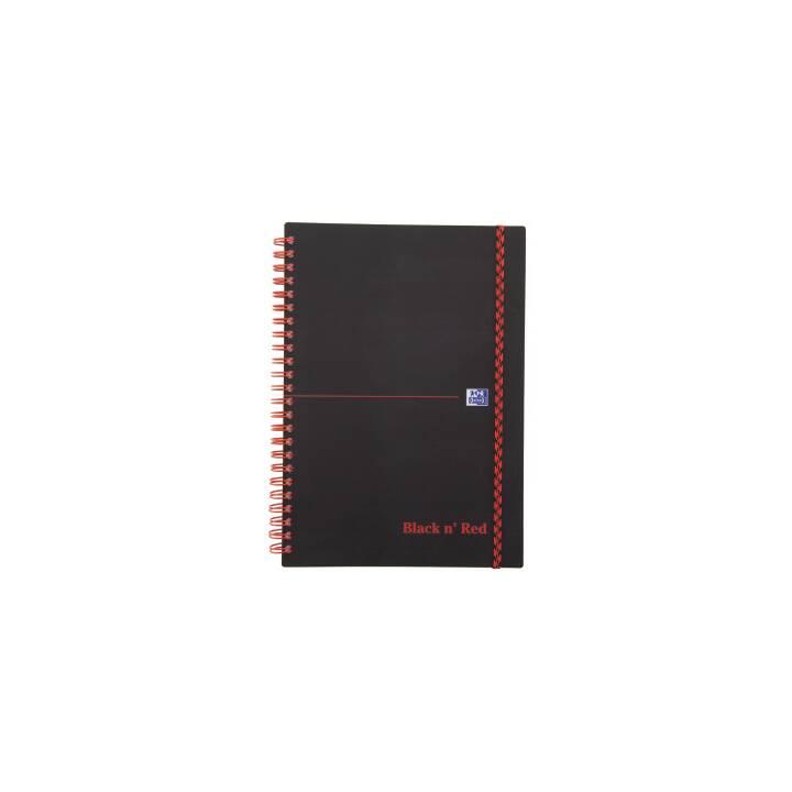 OXFORD Buch Black 'n Red A5 liniert 70 Blatt