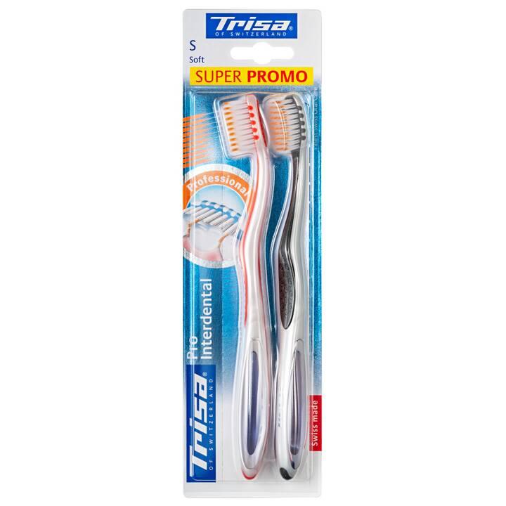 TRISA Normale Zahnbürste Pro Interdental Duo (Weich)