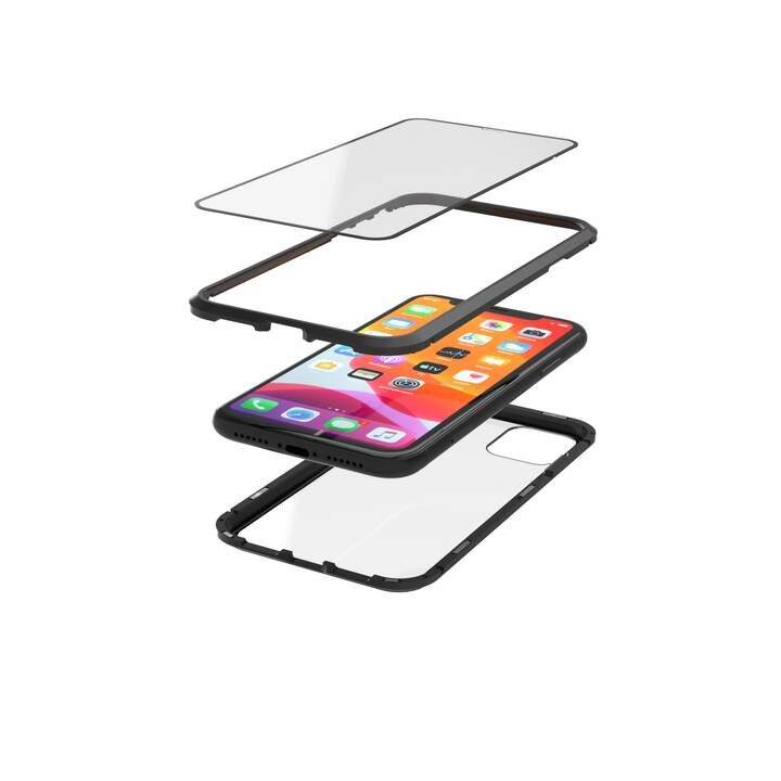 HAMA Sleeve Magnetic (iPhone 11, Nero, Transparente)