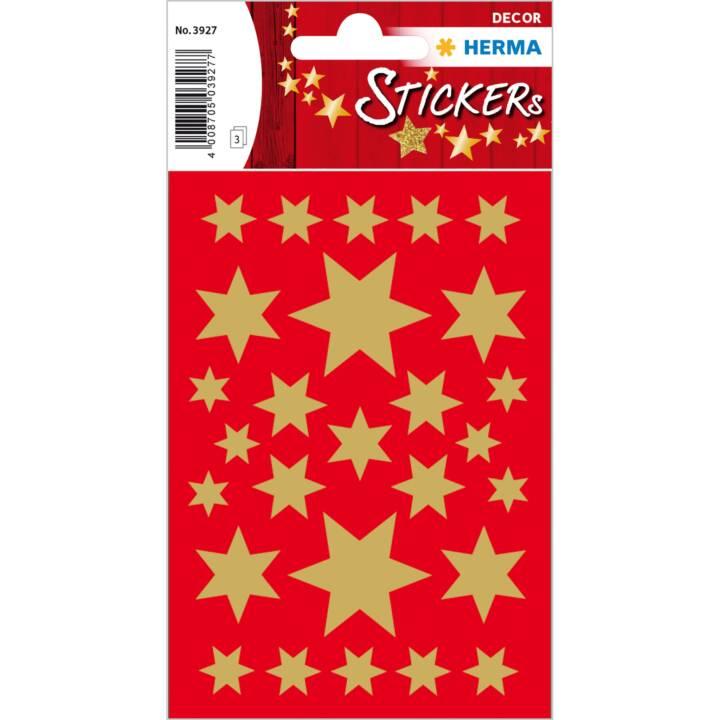10 x W'Sticker Dec.Ster.10-30mm gol