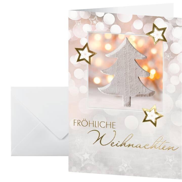 "SIGEL Cartolina di Natale ""Fröhliche Weihnachten"" (A6, Multicolore)"