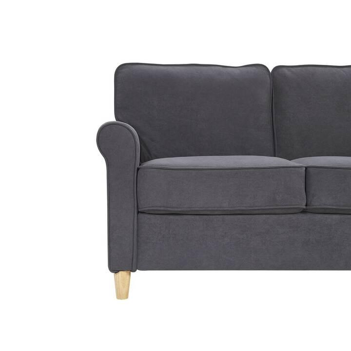 BELIANI Ronneby Sofa (Samt, Dunkelgrau, 88 cm x 78 cm)