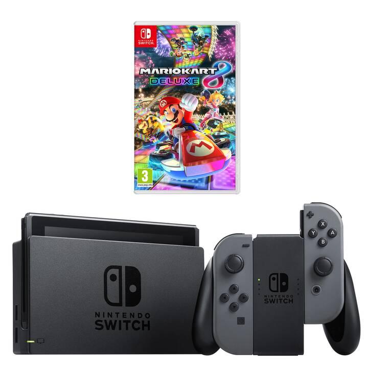 NINTENDO Switch New Grey + Mario Kart 8 Deluxe 32 GB (Allemand)