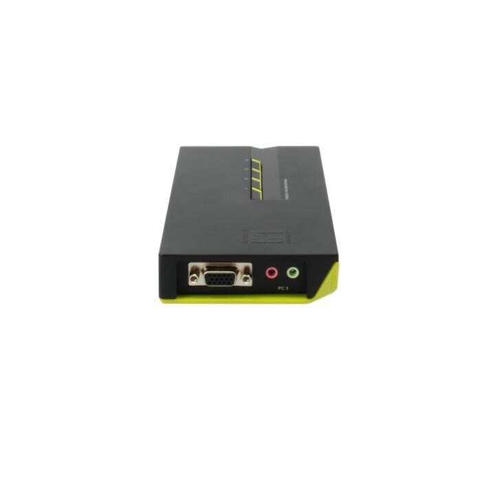 LEVELONE KVM-0421 Audio-Switch, 4 Anschlüsse